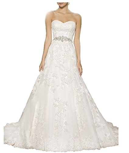 Vickyben Strapless a Line Wedding Dress 2029 Long Sleeveless Bridal Gown Ivory 16