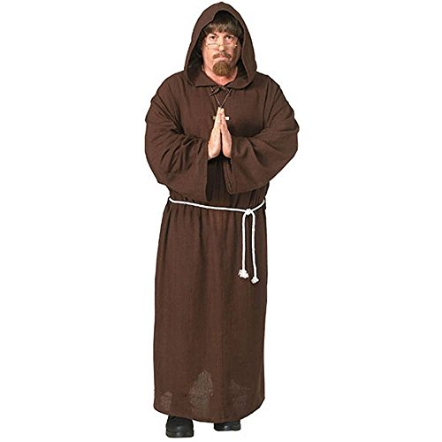 Adult Friar Tuck Deluxe Hooded Monk Robe Costume