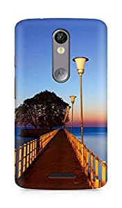 Amez designer printed 3d premium high quality back case cover for Motorola Moto X Force (Sunset Wood Dock Street Lights)