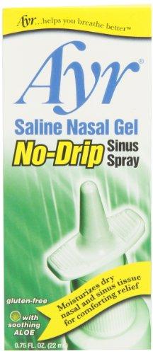 Ayr Saline Nasal Gel No-drip Sinus Spray With