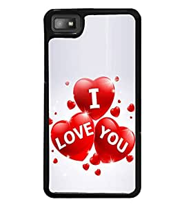 I Love You 2D Hard Polycarbonate Designer Back Case Cover for BlackBerry Z10