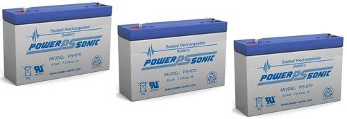 6V 7Ah Sla Ups Replacement Battery For Rhino Sla7-6 - 3 Pack