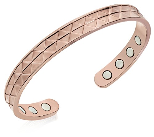 "- Premium ""Hawaiian Style"" - Pure Copper Magnetic Bracelet - Arthritis Pain Reliever - 8 Powerful Magnets! (Updated Improvement) - Designed For Men And Women - Adjustable -"