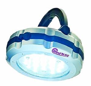 Wind 'N Go 7820 Vers-A-Light Hand Crank Flashlight Lantern & Emergency S.O.S. Beacon, 19-LED Light