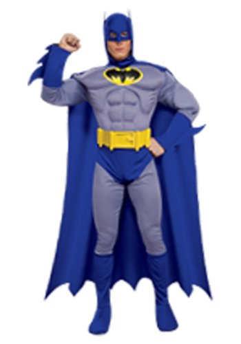 Rubies Mens Batman Brave Muscle Deluxe Superhero Theme Party Fancy Costume