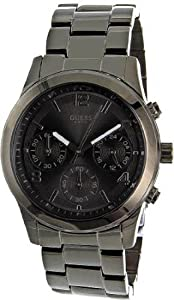 Women Watch Guess W14538L1 Chronograph Stainless Steel Case and Bracelet Black