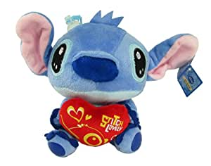 how to draw stitch holding a heart