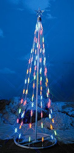 5′ Pre-Lit Outdoor LED M5 Christmas String Tree