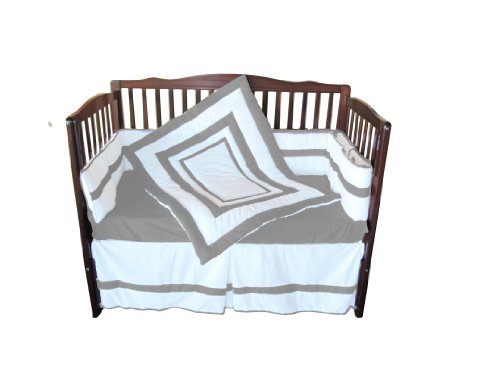 Baby Doll Modern Hotel Style Crib Bedding Set, Grey
