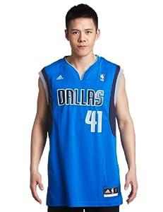 NBA Dallas Mavericks Dirk Nowitzki Blue Replica Jersey by adidas