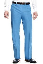 Cotton Rich Flat Front Trousers [T17-6406-S]