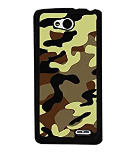 Army Fatigue Pattern 2D Hard Polycarbonate Designer Back Case Cover for LG L90