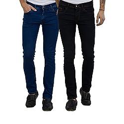 Cladien (Since 1958), Cotton Lycra, Men Jeans Combo, Pack of 2