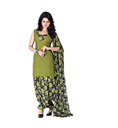 Banorani Women's Poly Cotton Dress Material (GP-1041_3_Mehendi Green)