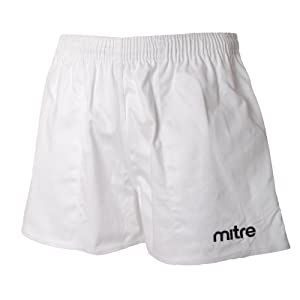 Buy Mitre Mens Cotton Drill Rugby Training Fitness Shorts by mitre