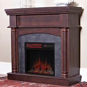 ChimneyFree Wexford Wall or Corner Infrared Electric Fireplace in Brown Cherry - 18DM9038-PM92 (Cherry Wood Electric Fireplace compare prices)