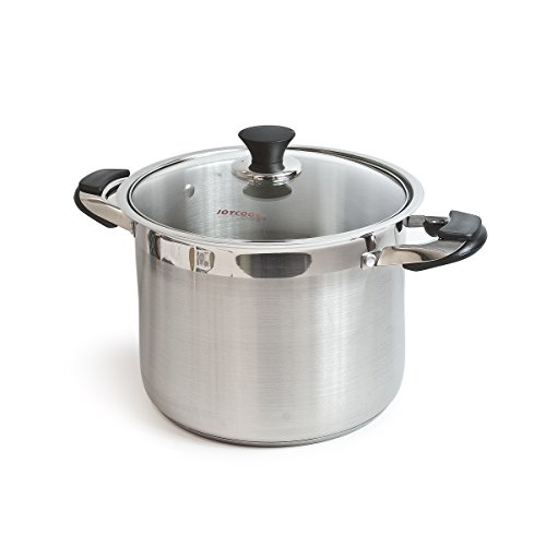 Joycook Stainless Steel Stock Pot w/Glass Lid 20QT