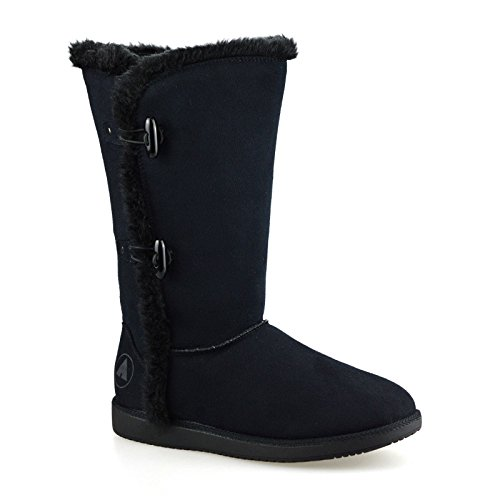 ladies-womens-flat-faux-suede-warm-fur-lined-winter-mid-calf-boots-shoes-sizeuk-5black