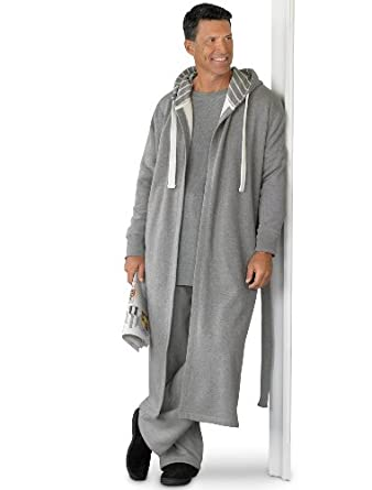 Amazon.com: Harbor Bay Big & Tall Hooded Fleece Robe: Clothing