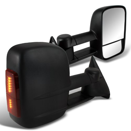 Spec-D Tuning RMX-C1088LED-P-FS Chevrolet Chevy C10 Pick Up Truck Power Towing Mirrors W/ Led Black (1995 Gmc Yukon Tow Mirrors compare prices)