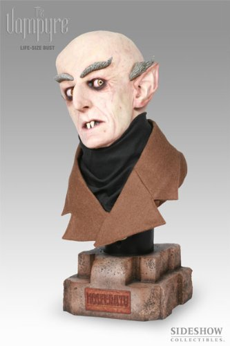 Buy Low Price Sideshow Nosferatu Lifesize !:1 Scale Bust By Sideshow Color Version Figure (B000XPX216)