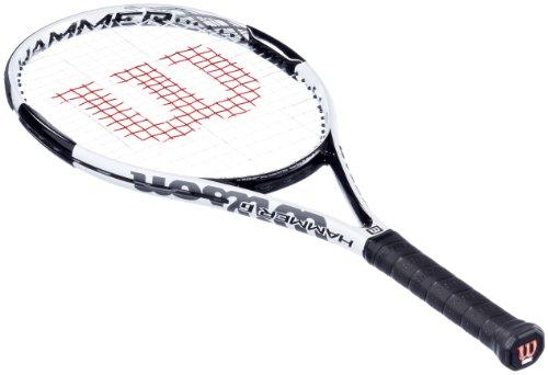 Wilson, Racchetta da tennis Uomo Hammer 6, Bianco/Nero (weiß/schwarz), l2