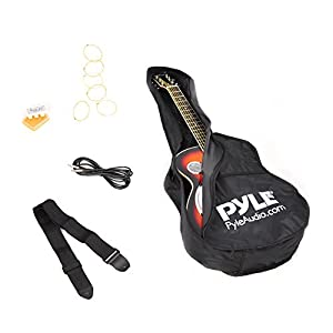 Pyle PGA48BR - Blues Steel Electric Acoustic Resonator Guitar with Built in Preamp and Pickup - Sunburst by Sound Around