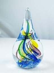 M Design Art Handcraft Abstract Ocean Spiral Tubes Bulb Paperweight [Kitchen]