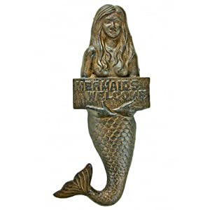 "Amazon.com - Rustic Cast Iron Mermaid Welcome Sign 12"" - Mermaid"