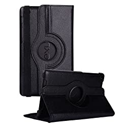 DNG 360 Degree Rotating Smart Leather Case Cover for Google Nexus 7 Tablet 2nd GEN 2013 Black