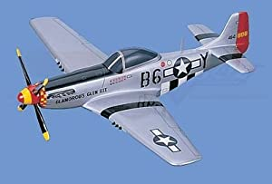 "P-51   Mustang, ""Glamorous Glen III"" Airplane Model Toy. Mahogany Wood Model Aircraft Scale: 1/27"