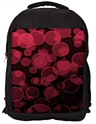 Snoogg Abstract Black Galaxy Galaxy Backpack Rucksack School Travel Unisex Casual Canvas Bag Bookbag Satchel