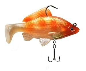 Real fish koi goldfish on golden pond bait for Artificial koi fish