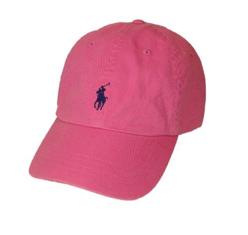 polo ralph lauren pony logo hat cap pink with navy pony. Black Bedroom Furniture Sets. Home Design Ideas