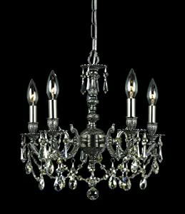 Mirabella 5 Light Chandelier Crystal Type: Hand Cut Crystal