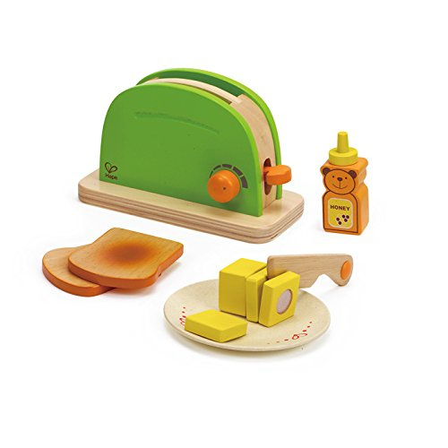 Pop Up Toaster Wooden Play Set