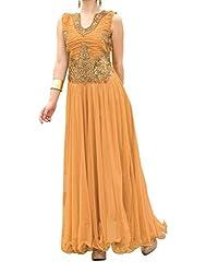 Fahsion Gallery Brown Designer Net Gown