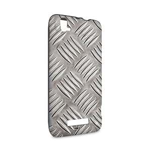 Handyschale Handycase für ZTE Grand S Flex veredelt mit YOUNiiK Styling Skin - Riffelblech