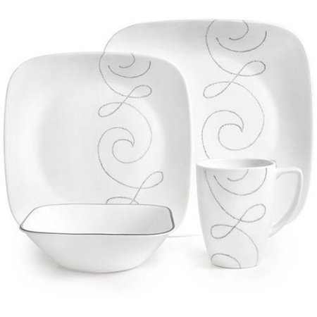 Corelle 32-Piece Squares Endless Thread Dinnerware Set (32 Piece Corelle Dinnerware Set compare prices)