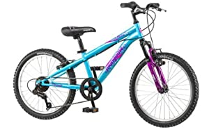"20"" Mongoose Girls BMX / Mountain Bike Hybrid With Aluminum Frame and"