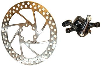 "Buy Low Price Tektro Io Mechanical Disc Brake Set "" 165mm, Front or Rear Black. Includes rotor , caliper (B000C12EV0)"