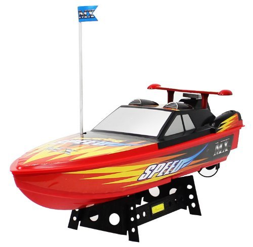 MX Championship Superior Red Devil Electric RTR RC Speed Boat Good Quality Remote Control Boat RECHARGEABLE with Mini Tool Box (fs)