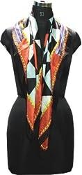 Selfiwear SW-1360 Embroidered 100% Silk Scarf