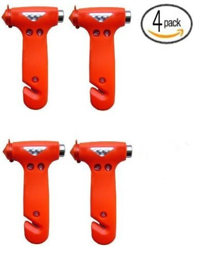 Nlc Seatbelt Cutter Window Breaker Escape Tool (Red 4Pcc)