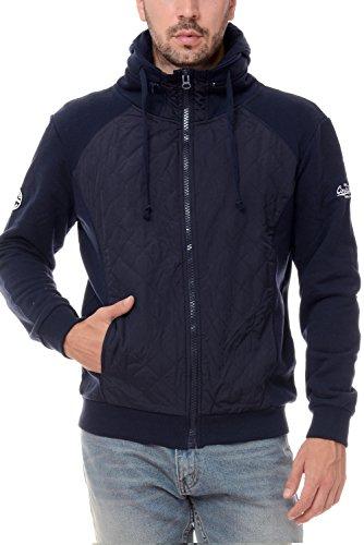 M.Conte Sweat Sweatshirt Jacket Uomo Sport Giacca Felpa Ricardo blu scuro XXL