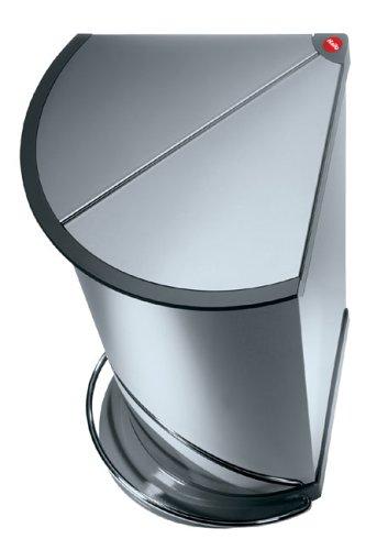 Hailo Trento Corner Pedal Bin, Stainless Steel, 23L