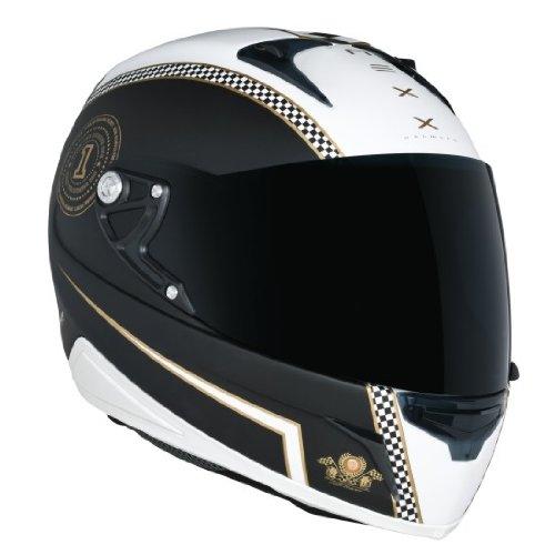 Nexx Xr1R Café Racer Full Face Helmet (White Black, Large)