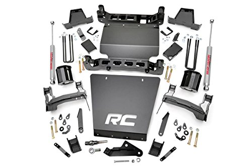 Rough Country - 290.20 - 7-inch Suspension Lift Kit (Steel Upper Control Arms) w/ Premium N2.0 Shocks (7 Inch Lift Kit compare prices)