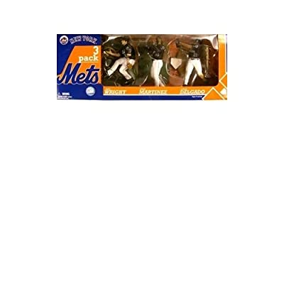 McFarlane Toys MLB Sports Picks Exclusive Action Figure 3Pack David Wright, Carlos Delgado Pedro Martinez (New York Mets)