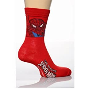Childrens/Kids Spiderman Socks, Character Socks (Pack of 3)